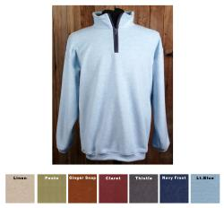 Green Brand Unisex Eco-friendly Banded Bottom 1/4-zip Fairway Fleece