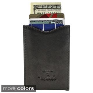 Tony Perotti Men's Italian Cow Leather Slim Magnetic Money Clip Wallet