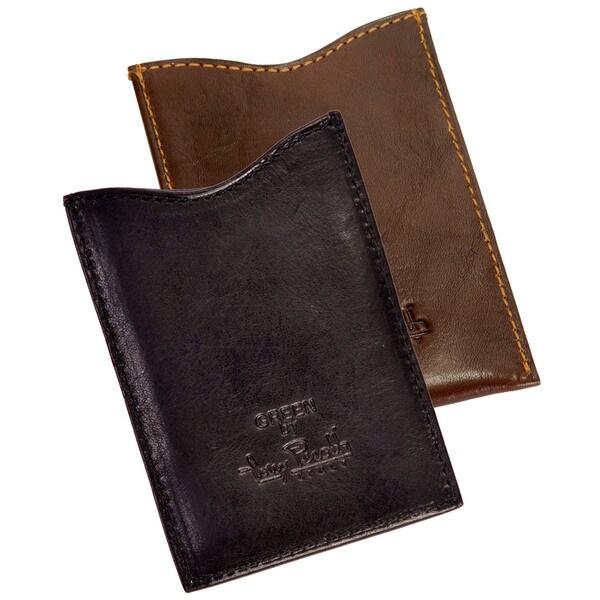 Tony Perotti Handmade Green Prima Italian Leather Magnetic Money Clip