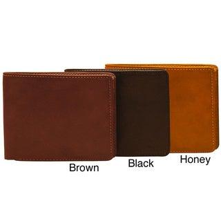 Tony Perotti Prima Multi-Credit Card Leather Tri-fold Wallet