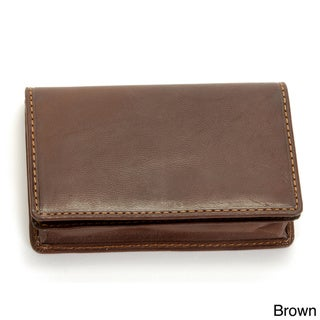 Tony Perotti Leather Business Card Wallet with Snap Closure