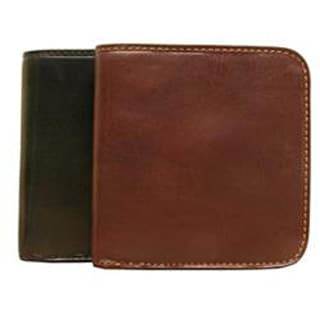 Tony Perotti Unisex Italian Cow Leather Front Pocket Bifold Traditional Wallet with Coin Pouch