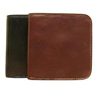 Tony Perotti Handmade Green Prima Traditional Italian Leather Coin Wallet with Snap Closure