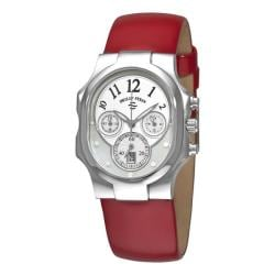 Philip Stein Women's 'Signature Classic Chrono' Red Strap Watch