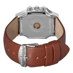 Philip Stein Women's 'Signature Classic Chrono' Brown Strap Watch