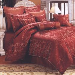 Casseria Red 8-piece Comforter Set