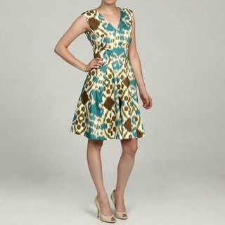 Nine West Women's Ikat Fit-and-Flare Dress