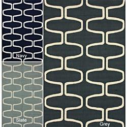 Hand-Hooked Alexa Moroccan Trellis Wool Are Rug (5' x 8')