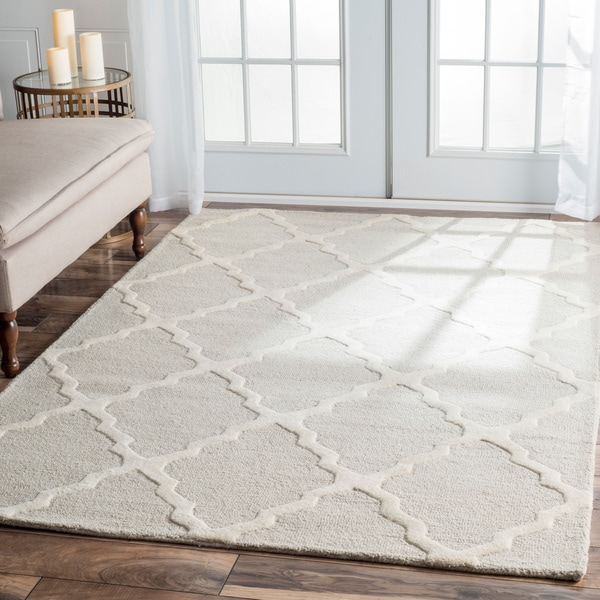 """nuLOOM Handmade Alexa Moroccan Trellis Wool Area Rug (7'6"""" x 9'6"""")"""