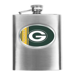 Simran Green Bay Packers 8-oz Stainless Steel Hip Flask