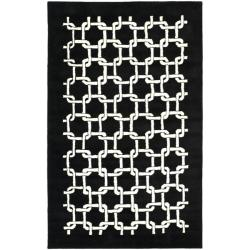 Safavieh Handmade Soho Black New Zealand Wool Rug (7'6 x 9'6)