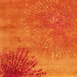 Safavieh Handmade Soho Burst Rust New Zealand Wool Runner (2'6 x 8')