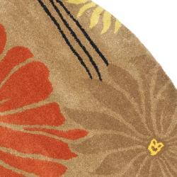 Safavieh Handmade Soho Brown New Zealand Wool Rug (6' Round)