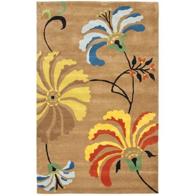 Safavieh Handmade Soho Brown New Zealand Wool Area Rug (6' x 9')