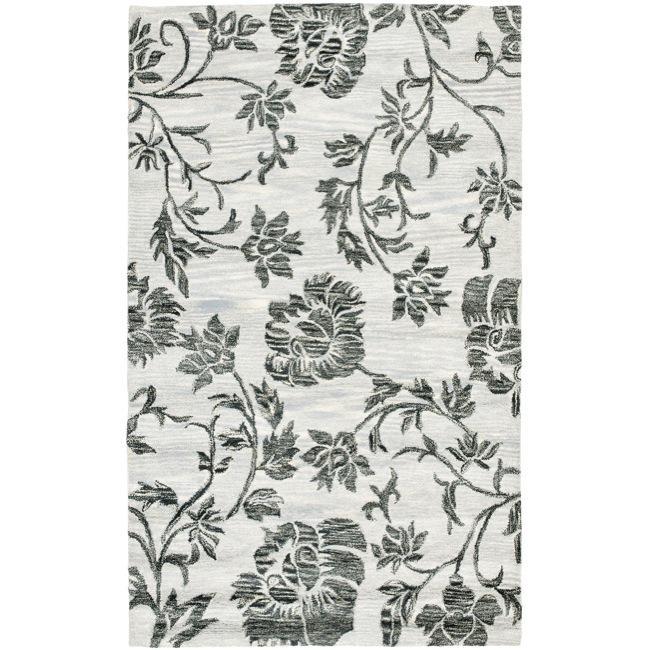 Safavieh Handmade Soho Grey New Zealand Wool Rug (7'6 x 9'6)