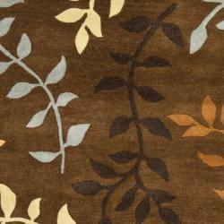 Safavieh Handmade Soho Brown/Multi New Zealand Wool Floral Rug (3'6