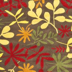 Safavieh Handmade Soho Brown/Multi Flower-Pattern New-Zealand-Wool Rug (5' x 8')
