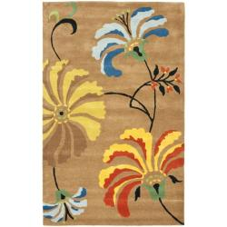 Safavieh Handmade Soho Brown Floral-Pattern New Zealand Wool Rug (3'6 x 5'6')