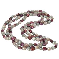 Pearls for You Endless Plum, Lavender and Grey FW Pearl Necklace (9-10 mm)