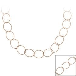 Mondevio Rose Gold over Sterling Silver 24-inch Italian Necklace
