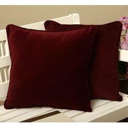 Cotton Velvet Decorative Pillows (Set of 2)