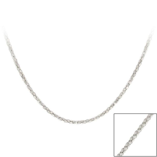 Mondevio Sterling Silver 24-inch Popcorn Link Chain
