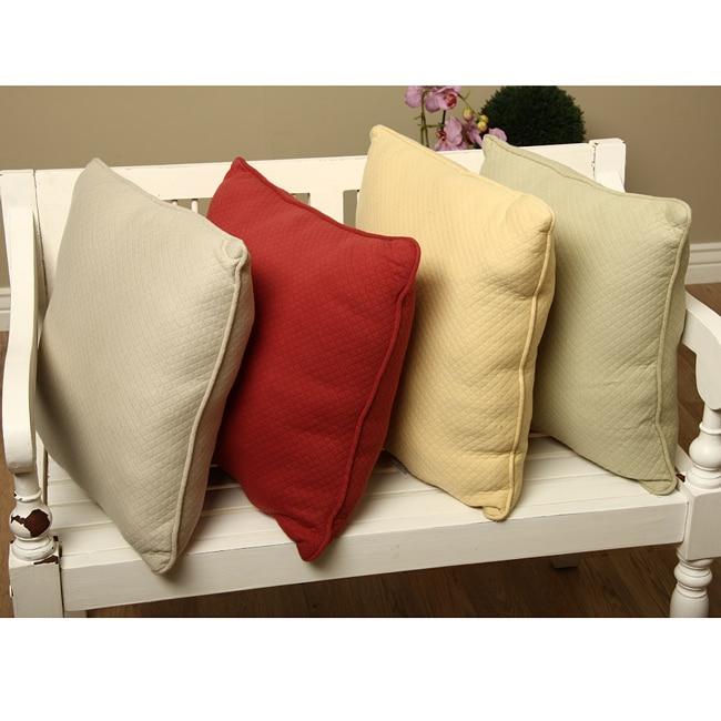 Overstock.com Diamond Matelasse 18-inch Throw Pillows (Set of 2) at Sears.com