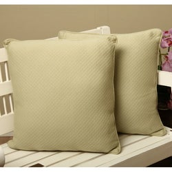 Diamond Matelasse 18-inch Throw Pillows (Set of 2)