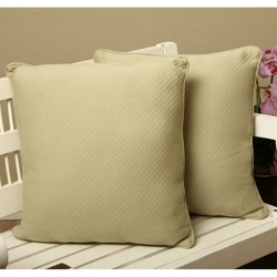 Diamond Matelasse Throw Pillows (Set of 2)