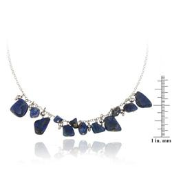 Glitzy Rocks Sterling Silver Lapis Necklace