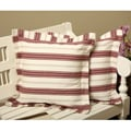 Kitchen Stripe Flanged Throw Pillows (Set of 2)