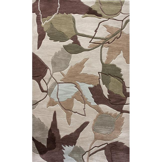 nuLOOM Hand-tufted Evo Beige Leaves Rug (5' x 8')