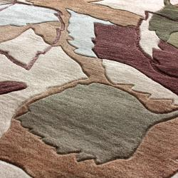 nuLOOM Hand-tufted Evo Beige Leaves Rug (5' x 8')