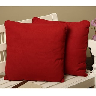 Microsuede Square Decorative Pillows (Set of 2)