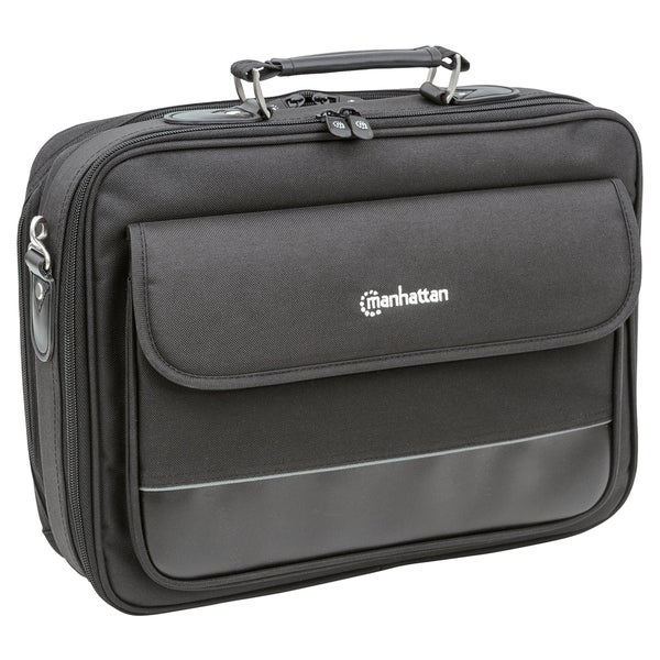 """Manhattan Empire II 15.6"""" Laptop Briefcase, Black"""