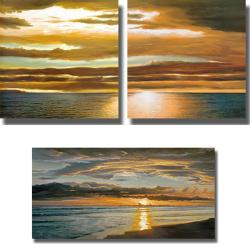 Dan Werner 'Reflections on the Sea' 3-piece Canvas Art Set