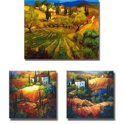 Craig and OToole 'Tuscan Hillsides' 3-piece Canvas Art Set