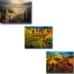 Craig and Hayslette 'Tuscan Views' 3-piece Canvas Art Set