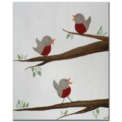 Nicole Dietz 'Red Robins II' Canvas Art