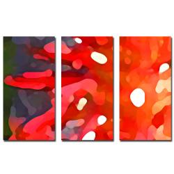 Amy Vangsgard 'Red Sun' 3-piece Art Set