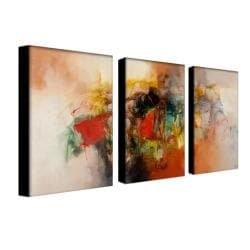 Zavaleta 'Abstract VI' 3-piece Art Set
