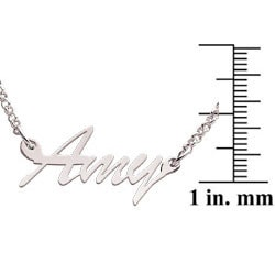 Sterling Silver 'Amy' Script Name Necklace