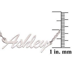 Sterling Silver 'Ashley' Script Name Necklace