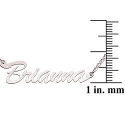Sterling Silver 'Brianna' Script Name Necklace