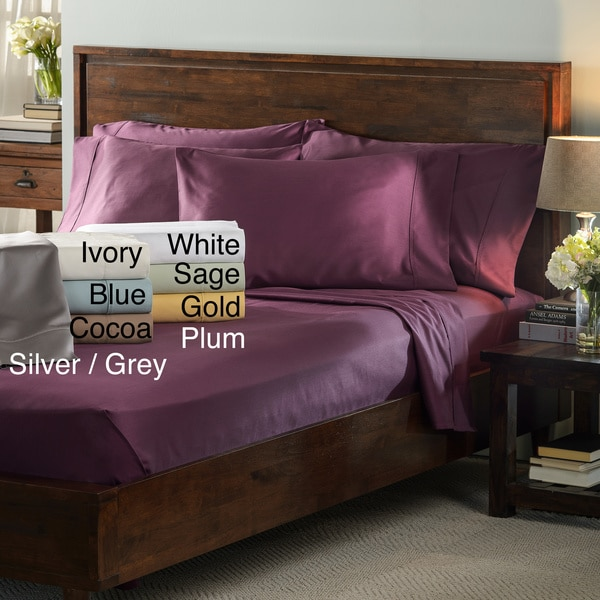 Delray Sateen 600 Thread Count Quality Cotton Blend 6-piece Sheet Set