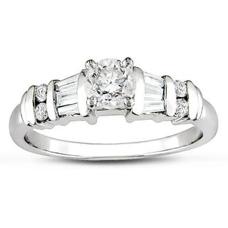Miadora Platinum 3/4ct TDW Diamond Engagement Ring (H-I, I1-I2)