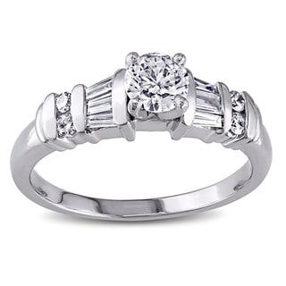 Miadora Platinum 3/4ct TDW Diamond Ring (H-I, I1-I2)