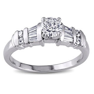 Miadora Platinum 3/4ct TDW Diamond Ring (H-I, I1-I2)