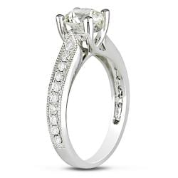 Miadora 14k White Gold 1 1/3ct TDW Diamond Engagement Ring (G-H, SI1)