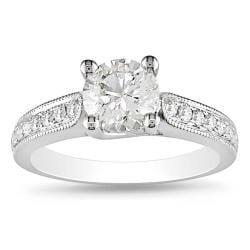 Miadora 14k White Gold 1 1/3ct TDW Diamond Engagement Ring (G-H, SI1)